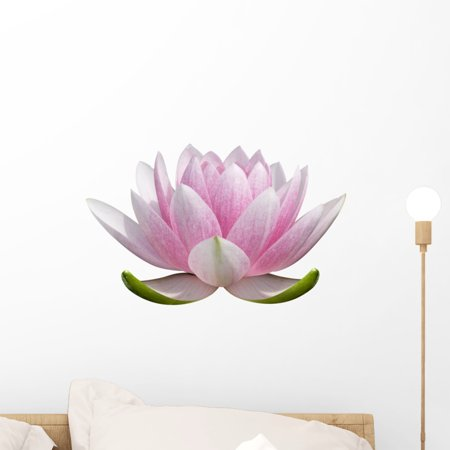 White Lotus Flower Wall Decal Sticker, Wallmonkeys Peel & Stick Vinyl Graphic (18 in W x 11 in (Wall Graphic Decal Sticker)