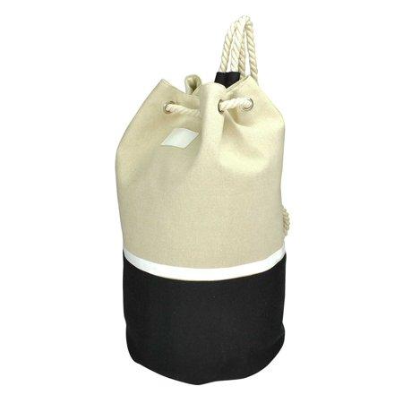 DALIX Large Drawstring Two-Toned Backpack Carry Bag in Black](Backpacks Under $10)