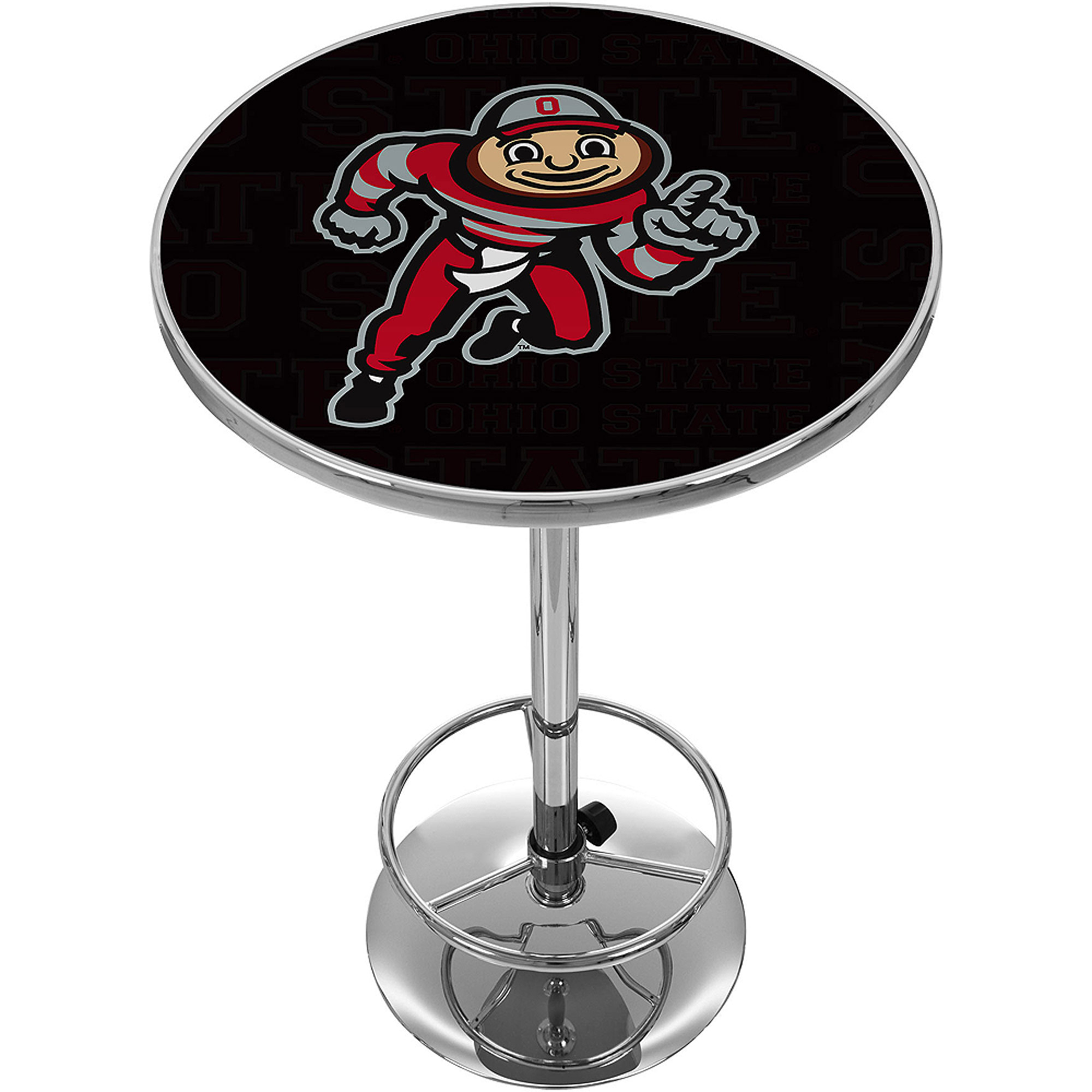 Ohio State Brutus Dash Chrome Pub Table