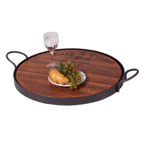 2 Day Designs, Inc Cask and Crown Serving Tray