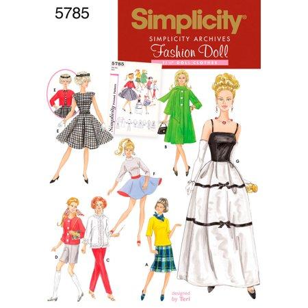 Simplicity Patterns 404040 Fashion Doll Clothes One Size Walmart Simple Walmart Dress Patterns