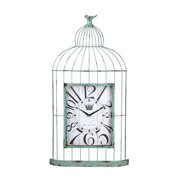 Cape Craftsmen Metal Bird Cage Clock