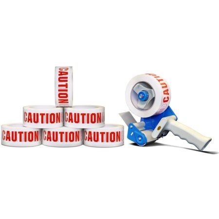 Caution Printed Tape 2 in x 110 yards 2.0 Mil with 2