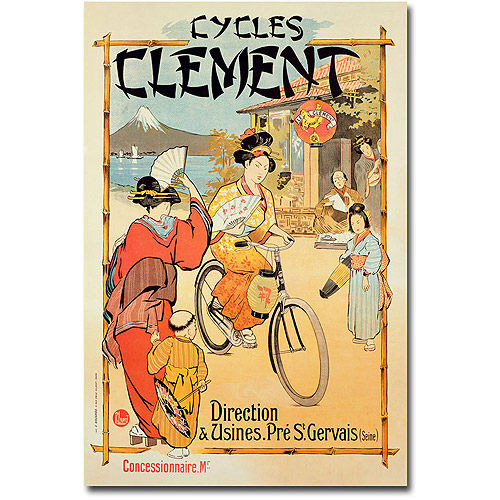 "Trademark Art ""Cycles Clement"" Canvas Wall Art"