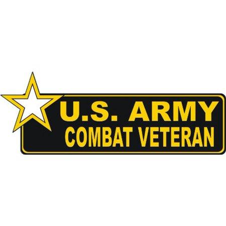 "United States Army Combat Veteran Bumper Sticker Decal 9"""