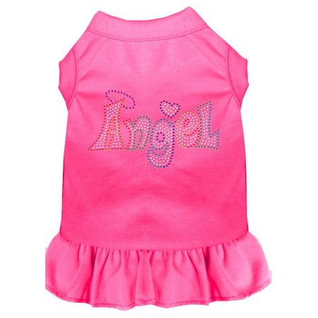 Technicolor Angel Rhinestone Pet Dress Bright Pink Xs (8)