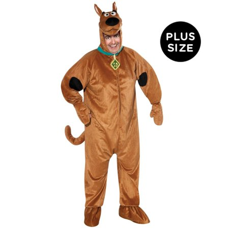 Scooby-Doo Adult Plus Costume - Plus (Scoobydoo Costumes)