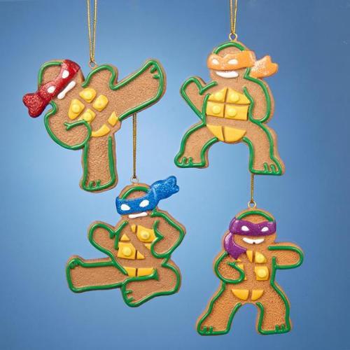 """3.25"""" Gingerbread Teenage Mutant Ninja Turtles Donatello Christmas Ornament"""