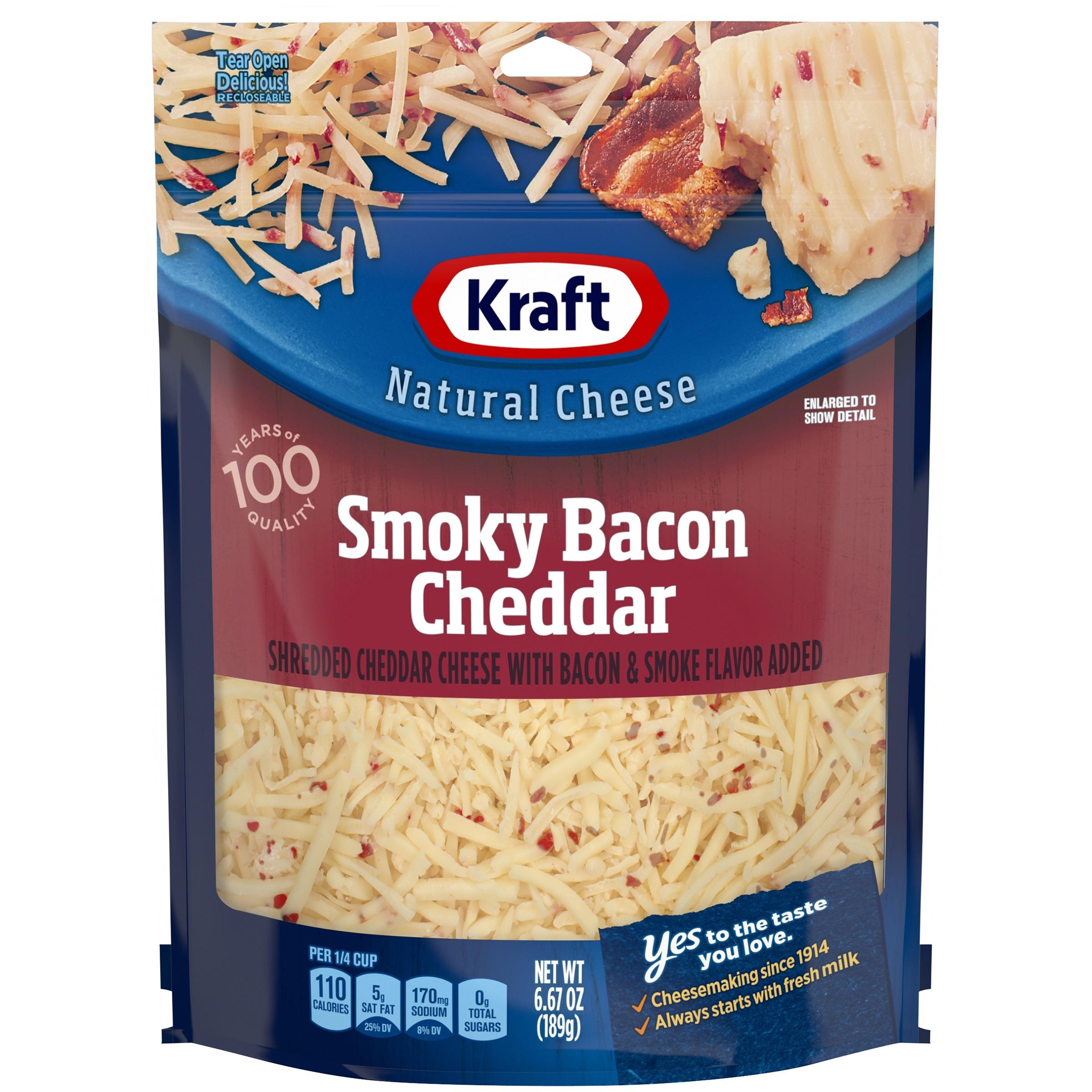 Kraft Smokey Bacon Cheddar Shredded Cheese, 6.6 oz