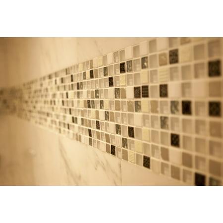 24 Inch Marble Mosaic - Laminated Poster Marble Tiled Mosaics Tiles Wall Poster Print 24 x 36