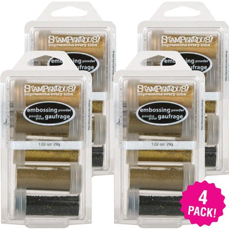 Stampendous Embossing Powder Kit 5 Count, Multipack of 4