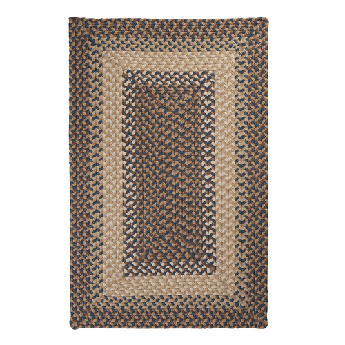 Colonial Mills Tiburon Stone & Blue Braided Indoor/Outdoor Area Rug