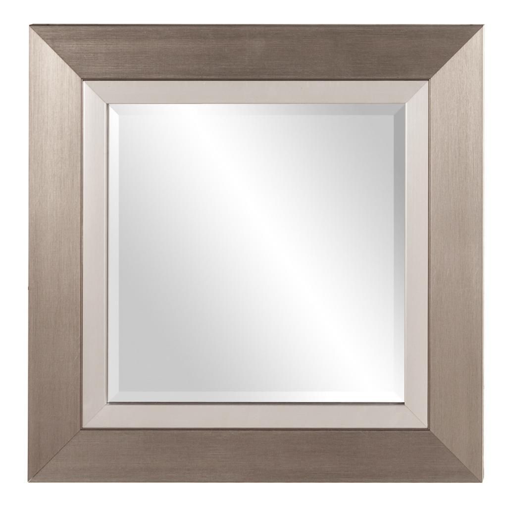 "Howard Elliott 69042 Chicago 18"" x 18"" Brushed Silver Square Mirror by Howard Elliott"
