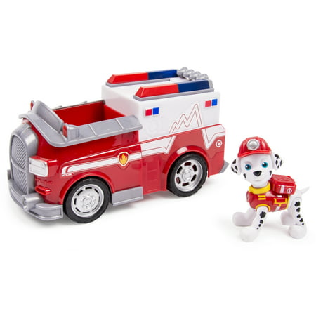 Paw Patrol Marshall's EMT Ambulance, Vehicle and Figure - Ryder From Paw Patrol