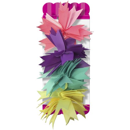 (2 Pack) Gimme Ribbon Pom Hair Clips, 4 count - Gatsby Themed Prom Hair
