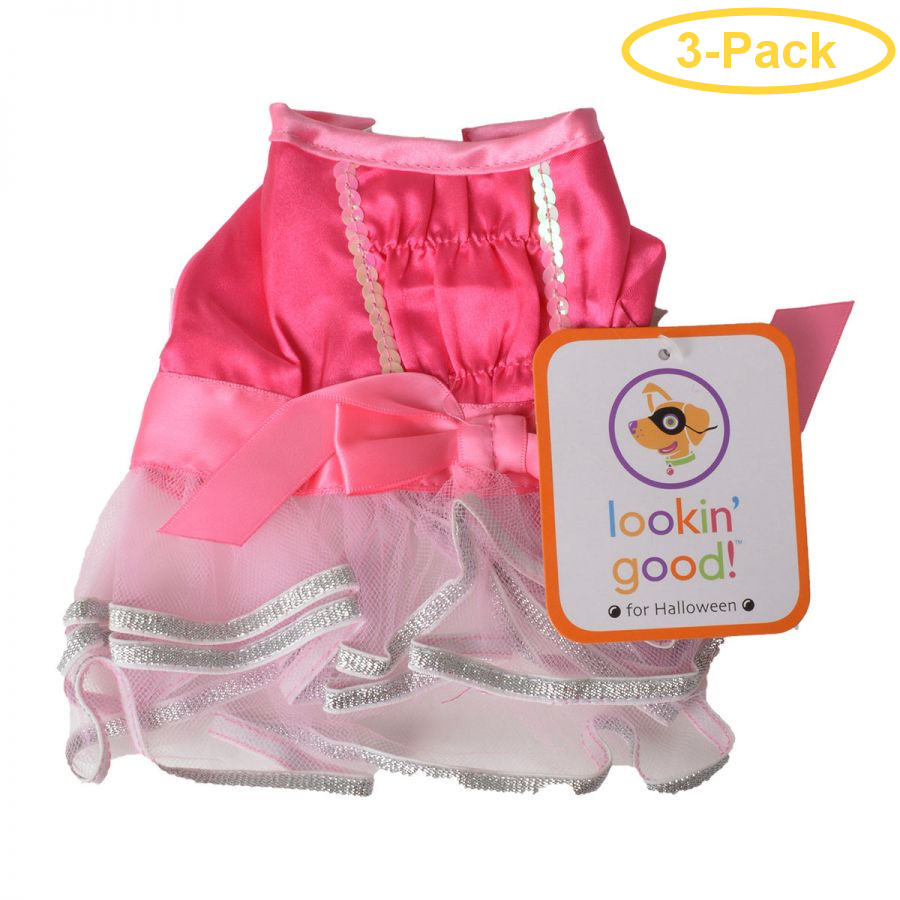 Lookin' Good Ballerina Dog Costume X-Small - (Fits 8-10 Neck to Tail) - Pack of 3