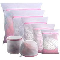 7pcs Extra Large Mesh Laundry Bag Delicates Wash Bag for Bra Lingerie, Underwear, Socks, Sweaters and Garment, Travel Organization Storage Bag