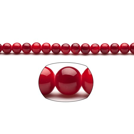 Dark Red Pearls 8mm Solid-Tone Glass Beads 220-Bead Count 2x32In