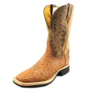 Tony Lama Vintage Smooth Ostrich Men US 8.5 Brown Western Boot