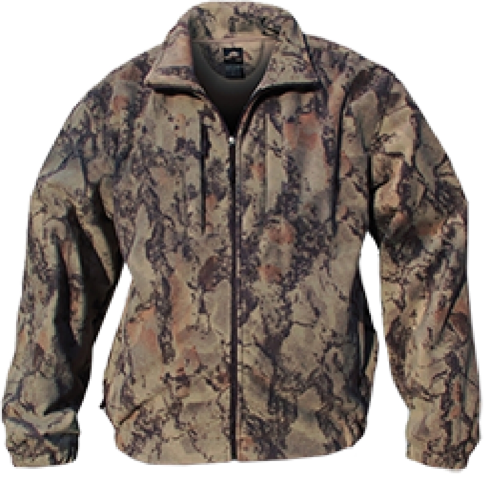 Natural Gear Full Zip Fleece Jacket Natural Camo 2Xlarge