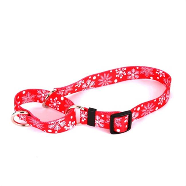 Yellow Dog Design Red Snowflakes Martingale Collar