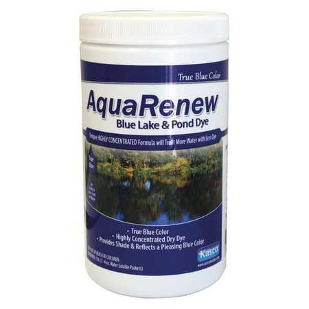 AQUARENew POND & LAKE DYE ARB3-4 Pond Conditioner,4 oz.,4 Acre ft. G2018969 by AQUARENEW POND & LAKE DYE