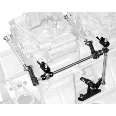 Edelbrock 7071 Carburetor Throttle Linkage  For Use With Sideways Mounted Dual Carburetor; Straight Linkage - image 1 of 1