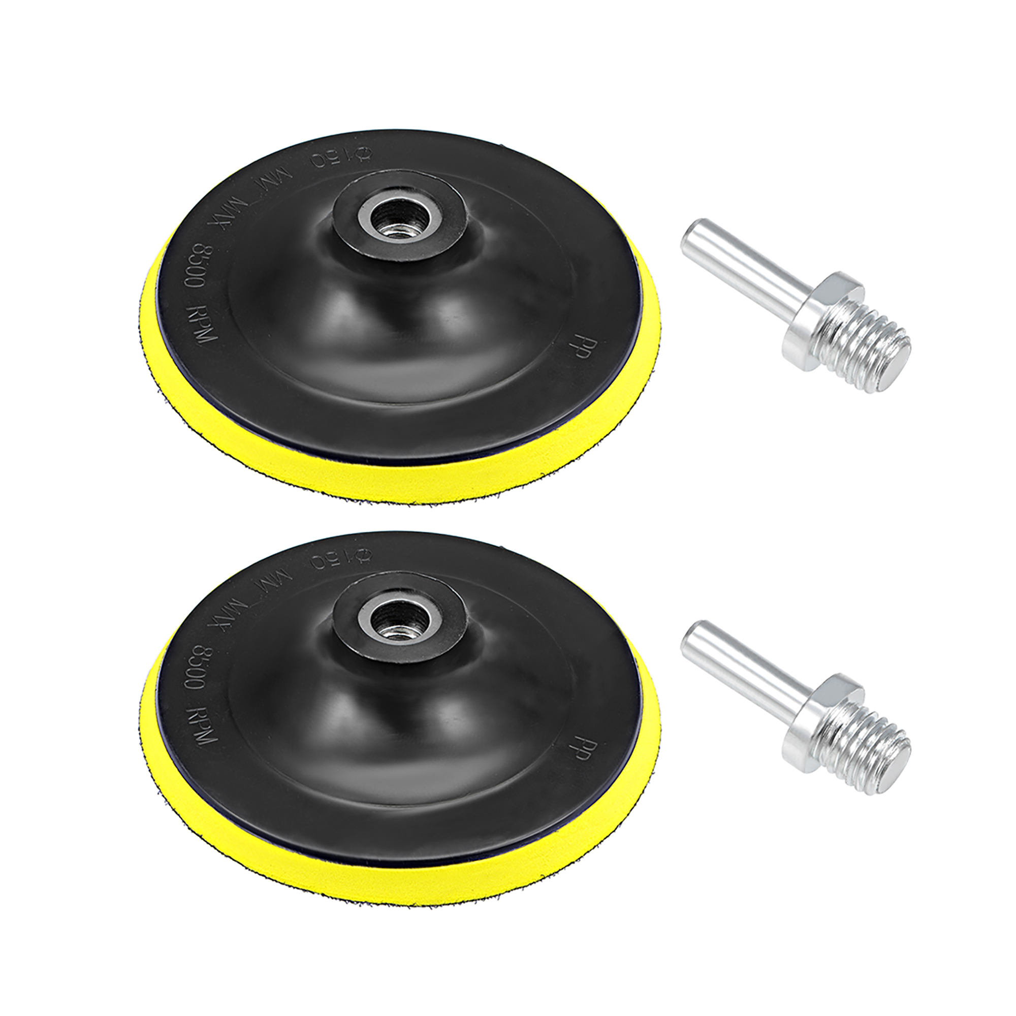62pc 50mm Sanding Disc Sand Paper Hook Loop Sander+Backer Pad+M6 Drill Adapter