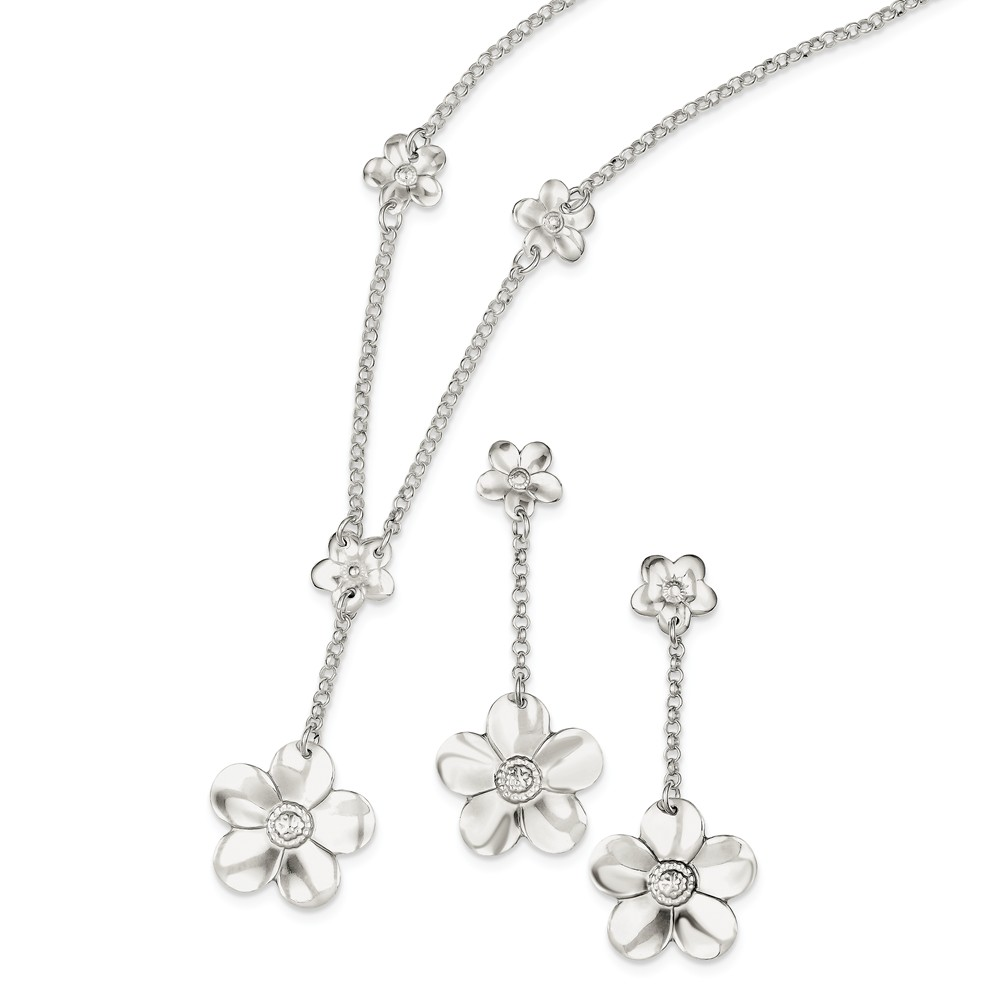 VISTAR Sterling Silver Necklace And Earring Set, Best Quality Free Gift Box by