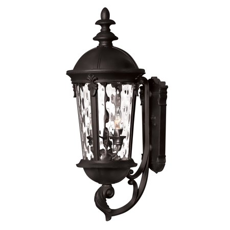 """Hinkley Lighting 1894BK 25.5"""" Height 3-Light Lantern Outdoor Wall Sconce in Black from the Windsor Collection"""