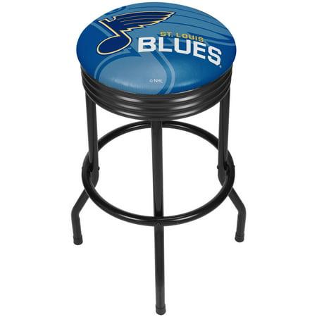 Nhl Black Ribbed Bar Stool St Louis Blues