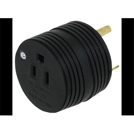 Power Cord Adapter, 30 Amp Male To 15 Female, For Connecting RV Power Inlet To Standard Power (Best Source Auto Parts)