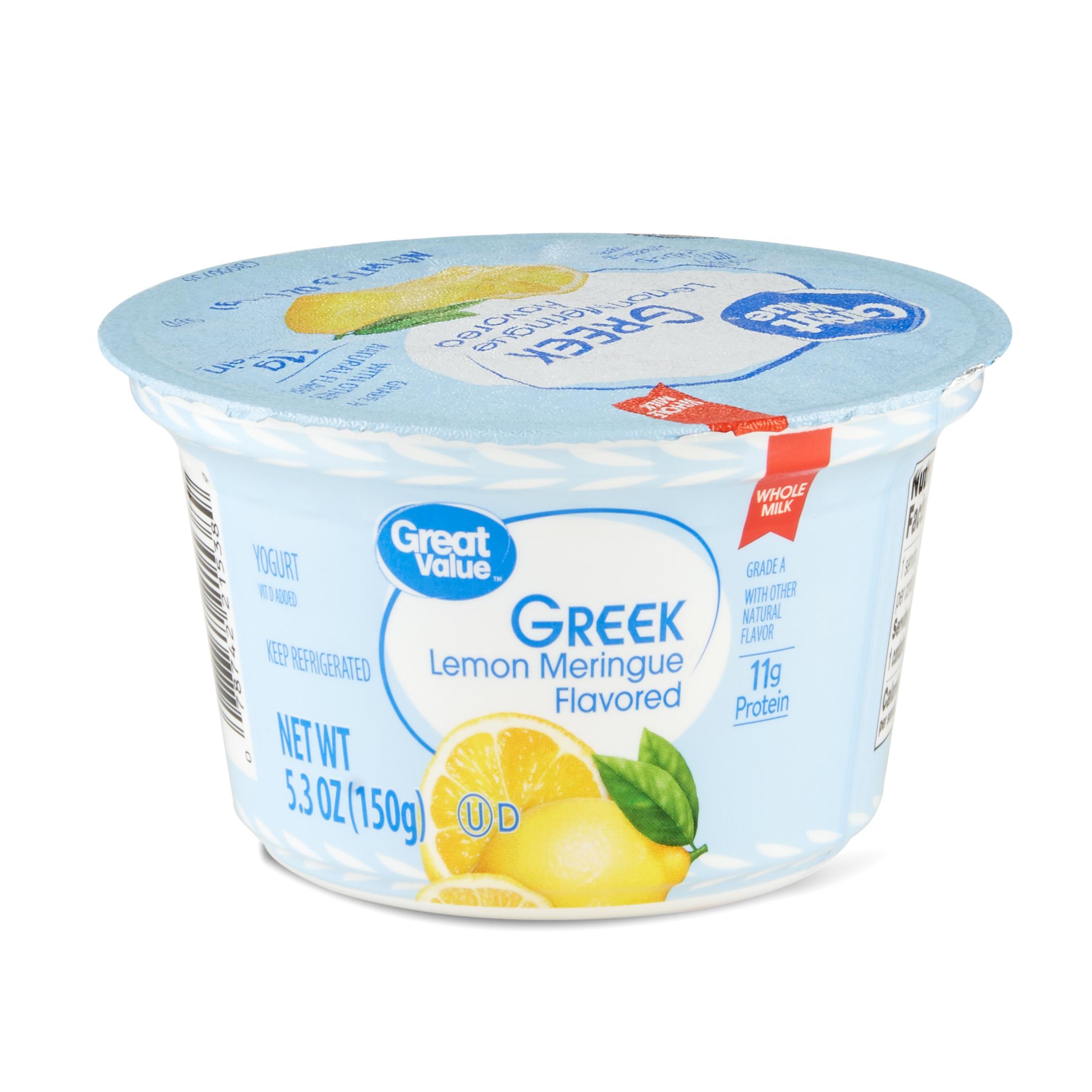 Great Value Lemon Meringue Greek Yogurt, 5.3 oz