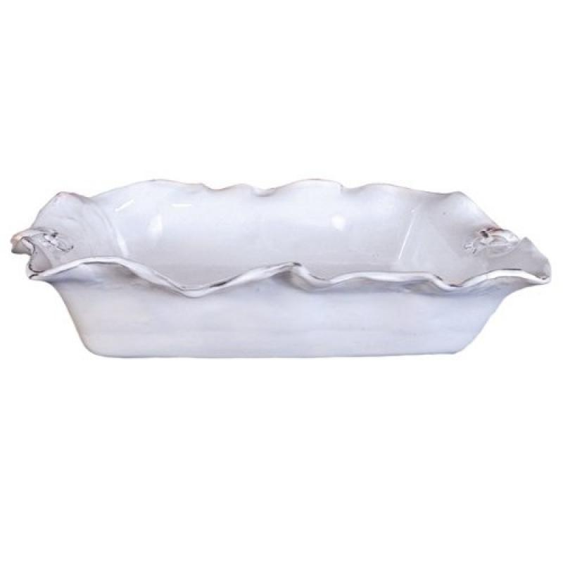 Abigails Fleur De Lis White Casserole Dish, Rectangle by