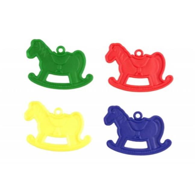 Balloons and Weights 2879 10 gram Happy Rocking Horse Balloon Weights Primary Plus Assortment 100 pc - image 1 de 1