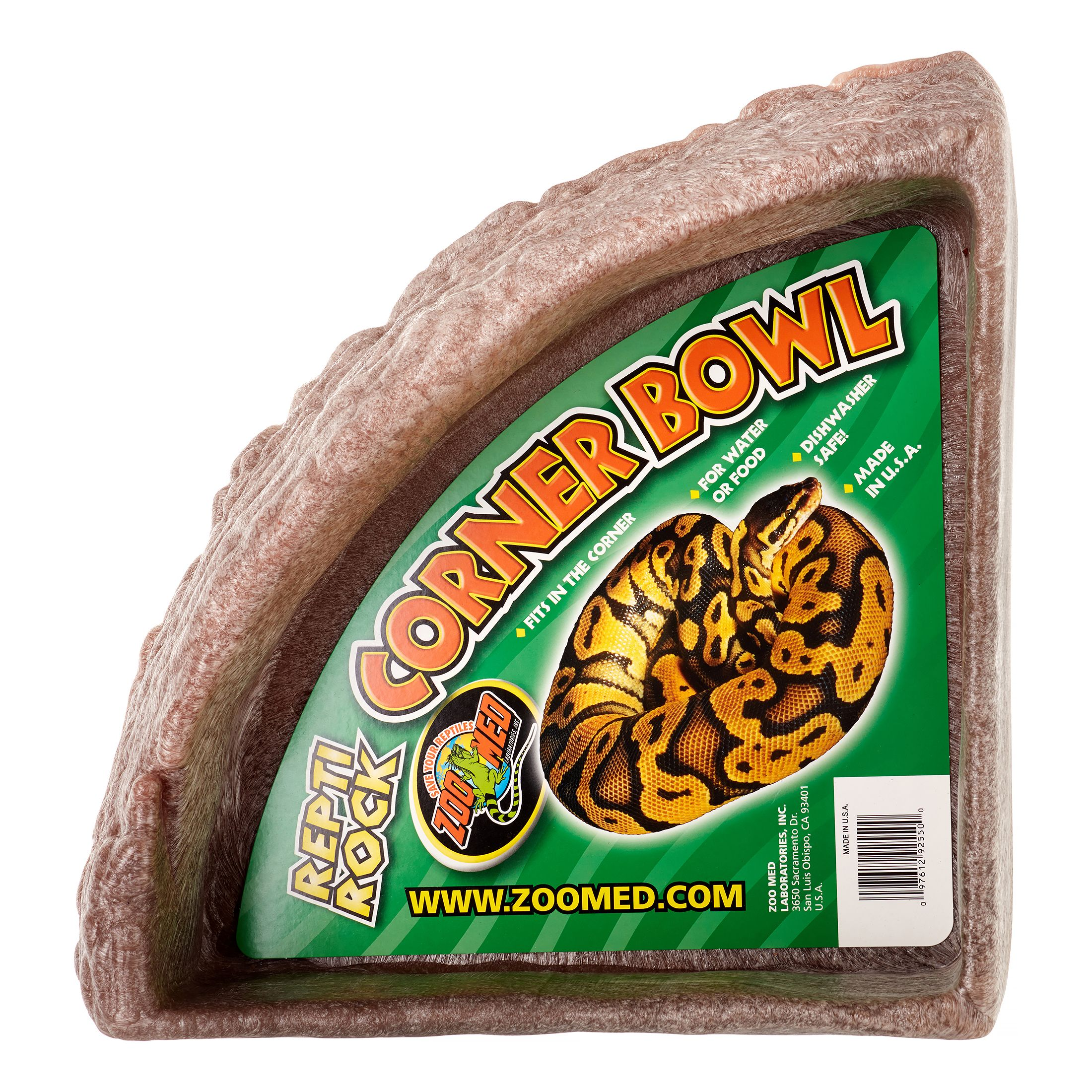 Zoo Med Repti Rock Corner Bowl, X-Large, Assorted Colors