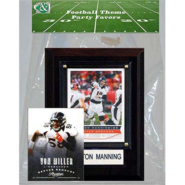 Candlcollectables 46LBBRONCOS NFL Denver Broncos Party Favor With 4 x 6 Plaque