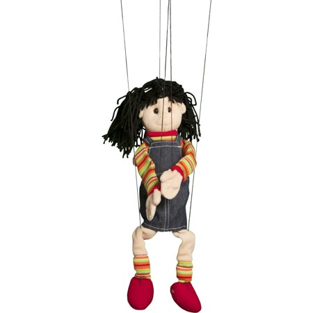 sunny toys wb1572 marionette puppet - 22 in. - hispanic girl (Marionette Puppets)