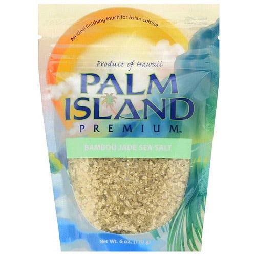 Palm Island Premium Bamboo Jade Sea Salt, 6 oz, (Pack of 6)