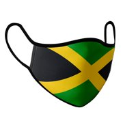Jamaica Face Dust Shield Cover with fluid and moisture resistant fabric. Reusable and Washable