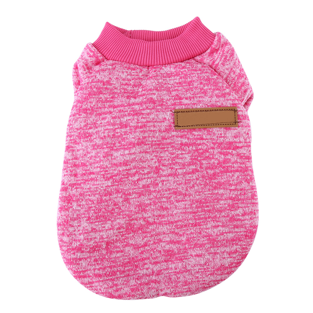 Pet Dog Puppy Classic Sweater Coat Tops Fleece Warm Winter Knitwear Clothes for Small Medium Dogs