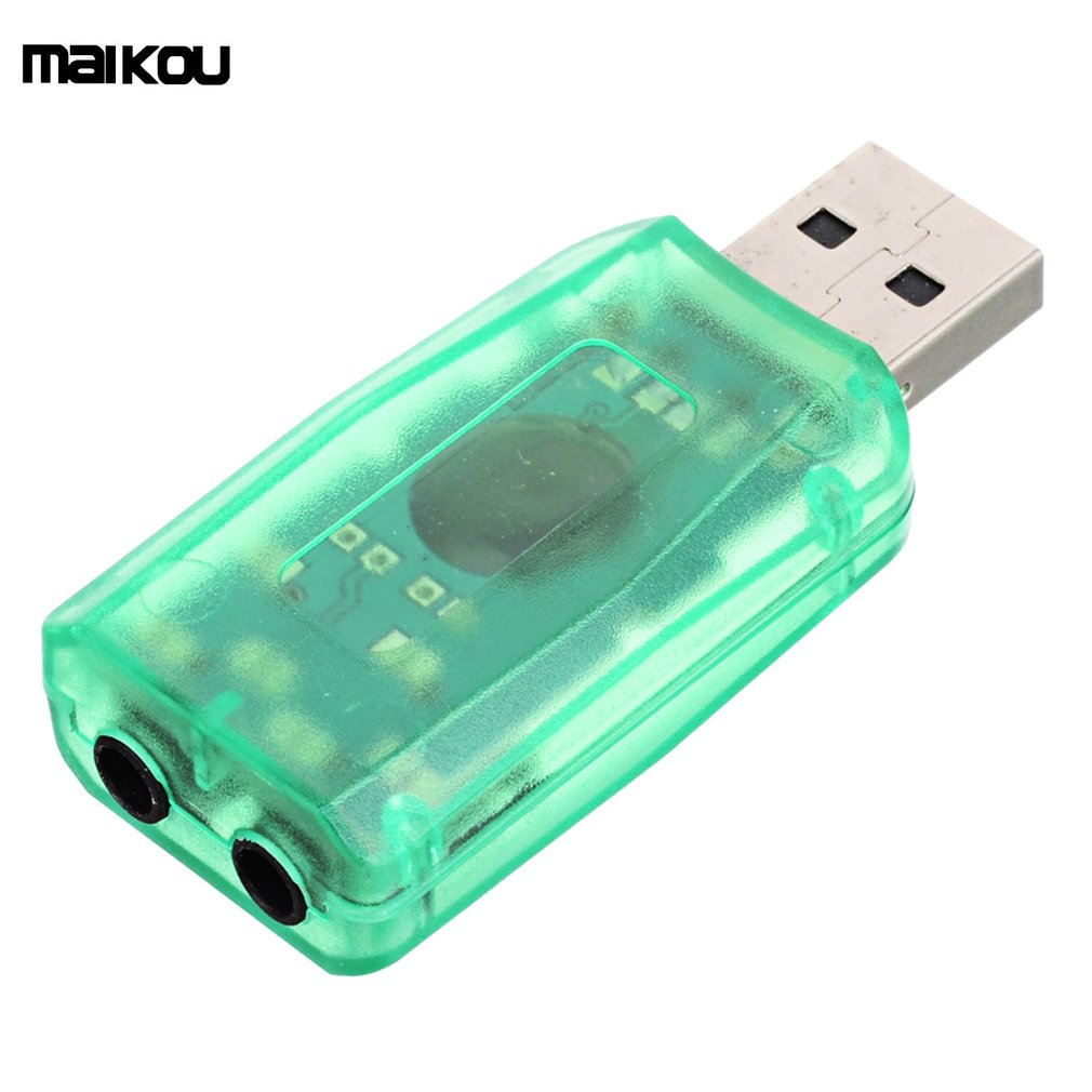 Maikou External USB Sound Card 5.1 Channel Audio Card Adapter With 3.5mm Jack