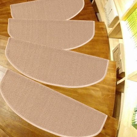 5Pcs 65X24cm Stair Treads Carpet Rubber Backing Mats Non-slip Floor Staircase Rug
