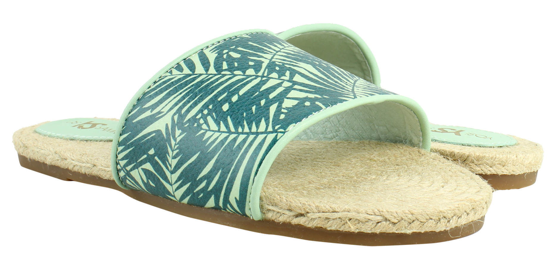 Yosi Samra Womens Sage/Pine Slide Sandals Size 5 New - Walmart.com