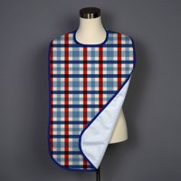 Patriotic Check Adult Bib - Covered with Care