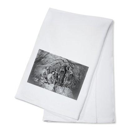 Coeur Dalene  Idaho   Chance Mine Lead Mining   Vintage Photograph  100  Cotton Kitchen Towel