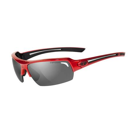 Tifosi Just Metallic Red Sunglasses - Black Smoke - Metallic Red Lens