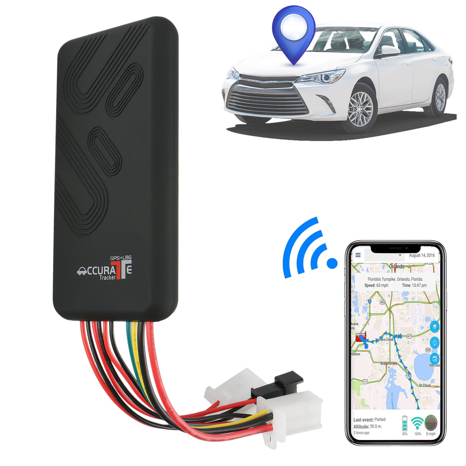 Car anti-theft Car Locator GSM//GPS Cell Phone Car Charger Locator GPS Tracker