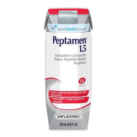 Elemental Diet (24 pack: Peptamen 1.5 Complete High Calorie Elemental Diet Unflavored Liquid - 8.4Oz )
