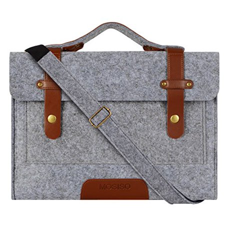 Mosiso Felt Laptop Shoulder Bag for New MacBook Pro 15 Touch Bar A1990 & A1707 2018 2017 2016, MacBook Pro, Notebook Computer 14 Inch Shoulderbag